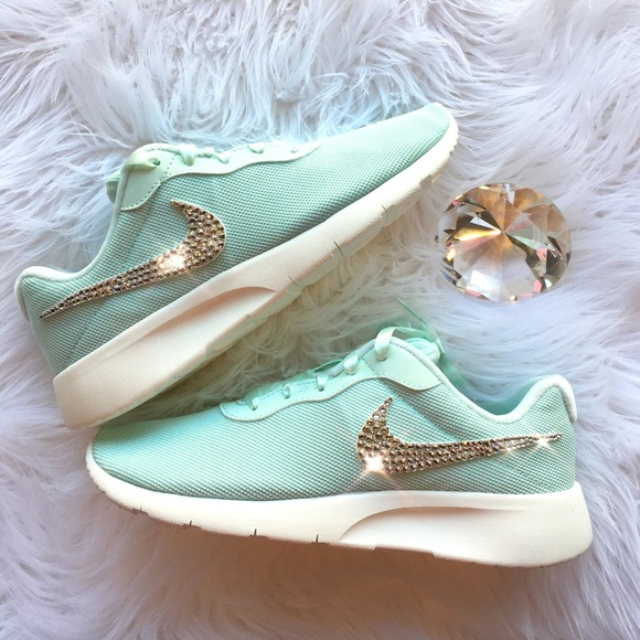 e3d15ad1c176 Swarovski Nike Tanjun Tiffany Blue Bling Shoes